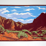 Red Mountain Wild, Reduction Linocut